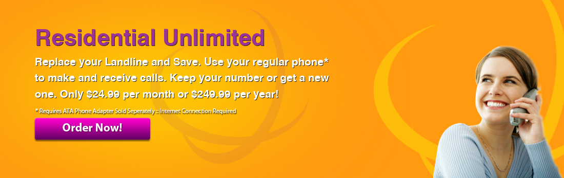No Contracts, No Hassle, Just Fully Featured Phone Service for your home.